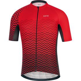 GORE WEAR C3 Fietsshirt korte mouwen Heren rood/zwart